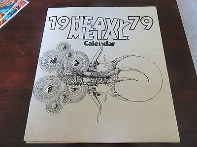 1979 Heavy Metal Calendar HM SEALED in shipping box NEW works for 2018