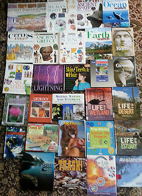 Lot Of 28 Childrens Science and History lot of homeschool books FUN!