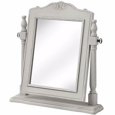 Gorgeous French Grey Dressing Table Mirror - Vintage Antique Shabby Chic Design