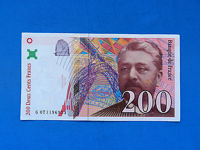 1999 France 200 Francs Banknote *P-159c*       *XF*