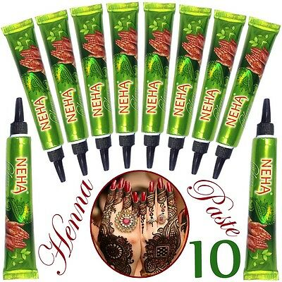 10x Neha Herbal Henna Tuben - ROT | Fast Henna | Strong & Stable | TOP | 250g