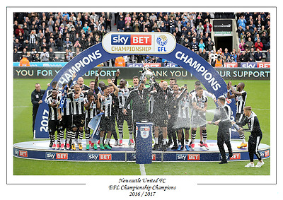 Newcastle United FC 2016 / 2017 Championship Champions Winners Poster Print