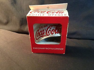 Coca-Cola Stationary Bottle Opener 1991 - New In Box