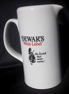 Dewar's White Label Scotch Whisky I.W. Harper Kentucky Bourbon Whiskey Pitcher