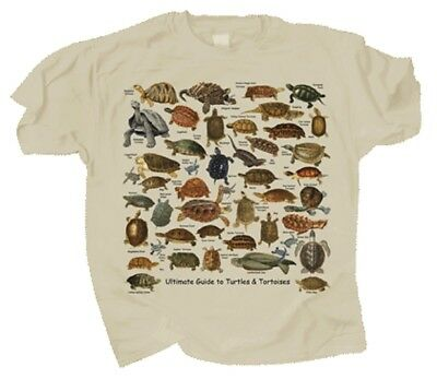 Ultimate Turtle & Tortoise Guide Adult T-shirt S M L XL XXL Sand Color 46 Specie