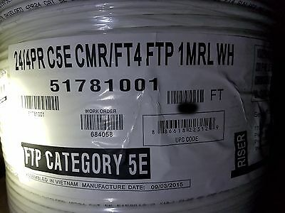 Honeywell Genesis Cable 5178 24/4P F/UTP Shielded CAT5E UV Res Riser Whit /100ft