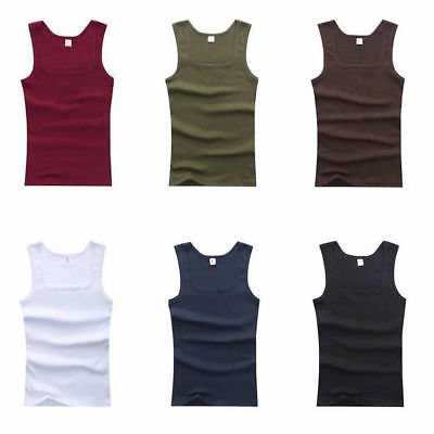Men's Vest Bodybuilding Tank Top Muscle Summer Cotton Clothing Stringer T-Shirt