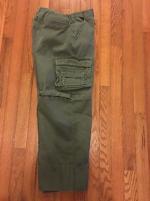 Boy Scouts of America Uniform Pants Convertible Green Youth Size 16