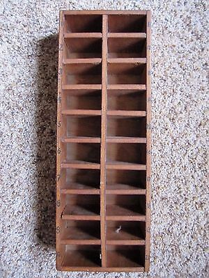 VINTAGE WOODEN BOX DISPLAY STORAGE HANDMADE #'s 1-20 MINI repurpose