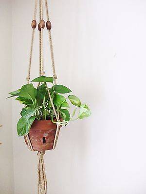 MODERN MACRAME PLANT HANGER 35in 36in SIMPLE PLANT HANGER 6mm  BOHO DECOR HOME