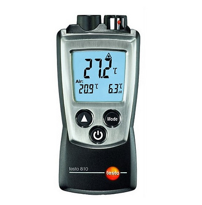 testo 810 Dual Thermometer, IR & NTC Air Temperature, 0560 0810, New