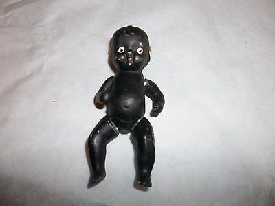 Vintage Black Americana Jointed Baby Bisque Figure Made in Japan