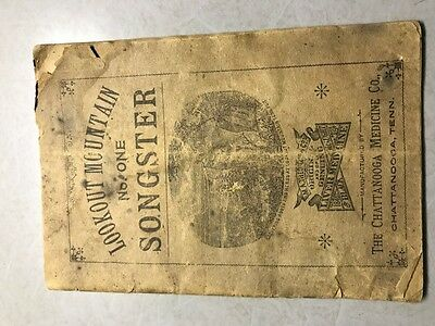 Antique Lookout Mountain Songster No 1 Black Draught Medicine Pamphlet Booklet