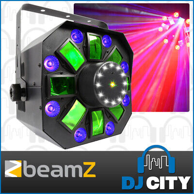 Beamz MultiAcis-IV RGB+UV LED DJ Party Light 4-in-1 with Strobe, Laser & Wash