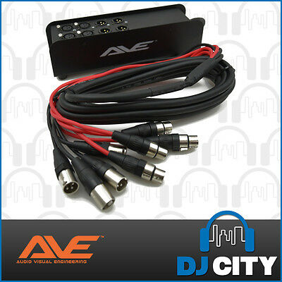 AVE 8 Channel Multicore Stage Box with 5m Snake & Custom XLR Connectors