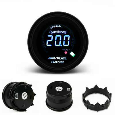 "2"" 52MM LED Digital Narrowband Air Fuel Ratio Black Face Monitor Racing Gauge"