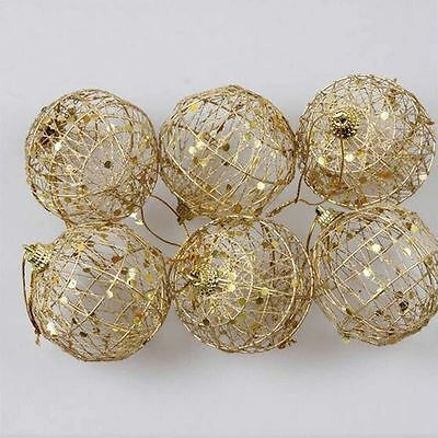 Round Ball Christmas Baubles  Ornament  Hanging Gift Party Decor Xmas Tree Craft
