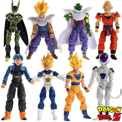 8x Dragonball Z Dragon ball DBZ Goku Piccolo Vegeta Trunks Action Figure Toy Lot