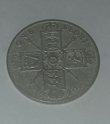 Very Nice 1920 Great Britain 1 One Florin Coin In Awesome Condition