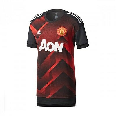 Camiseta adidas Manchester United FC Prematch 2017-2018 Real red-Black