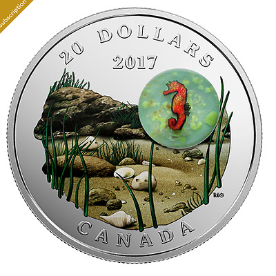 2017 Under the Sea - Seahorse Silver Coin