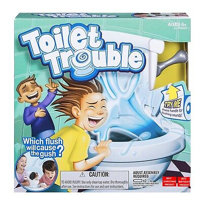 1x Hot New Toilet Trouble Hilarious Game With Flush Sound Effects Birthday Gift