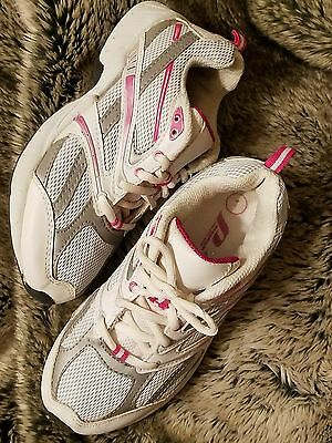 Prospirit Girls White/Pink Leather Athletic  Shoes Sneakers Girls Size 1 MSRP$52