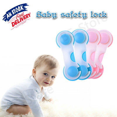 5/10x Adhesive Child Baby Kids Cute Safety Lock For Door Drawer Cupboard Cabinet