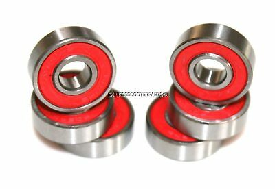 ABEC-9 608rs SKATEBOARD or MICRO STUNT SCOOTER INLINE SKATE WHEEL BEARINGS RED