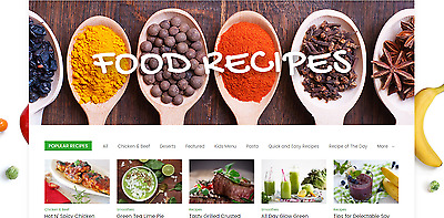 Established Profitable COOKING & RECIPES Food BUSINESS Turnkey Website For Sale