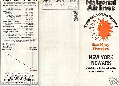 Natioal Airline Timetable Effective April 1976