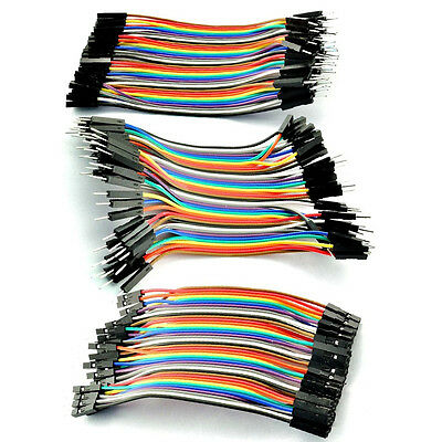40pc Male Female Dupont Wire Cables Jumper 10cm 2.54MM 1P Fit Arduino