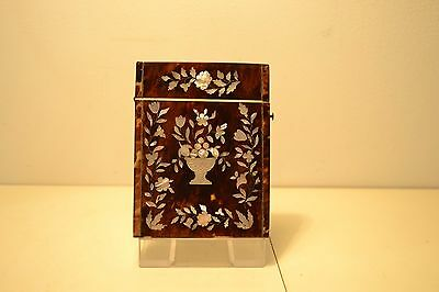 Antique Victorian Card Case with Mother of Pearl Inlay