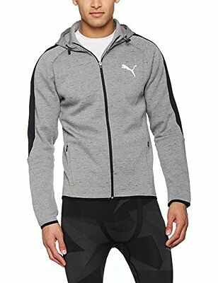 PUMA 590628 Pull à Capuche Zippé Homme, Medium Gray Heather, FR : M (Taille Fa