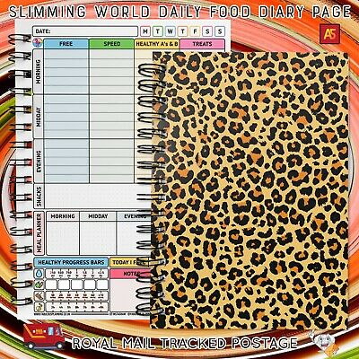food diary diet slimming world compatible tracker journal notebook log EatDrinkH