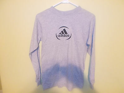 Unisex Size M Adidas Long Sleeve Gray T Shirt New With Tags