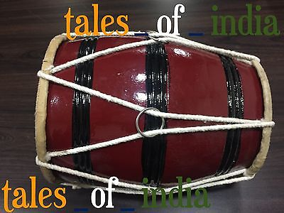 Basic~Punjabi Dhol~ Junior Dholki~Bhangra~Natural Wood~Baby Dhol~Music Lover