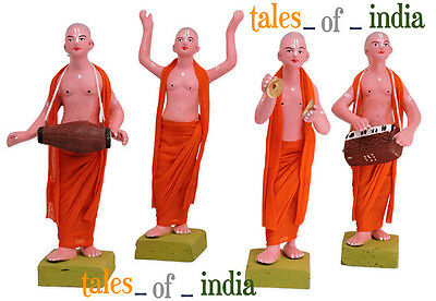 Iskcon Cult Bhajan Kirtan Figures For Interior Decoration