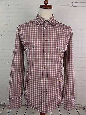 Vtg L-Sleeve CHecked Pearl Snap Western Shirt Urban Cowboy -L- DW14