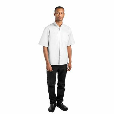 Le Chef Unisex Prep 'NYC' Style Chef Shirt Buttons Short Sleeve Loose Fit