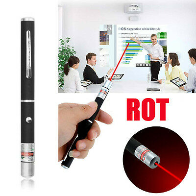 650nm LED Laser Pointer Stift Rot Sichtbaren Unterricht PPT-Präsentation Strahl