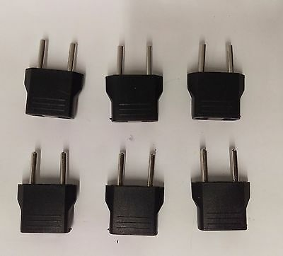 6 Travel Charger Converter US to EU/RU European Adapter Plug for Power Adapter