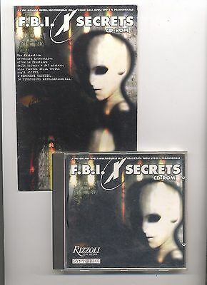 FBI X Secrets Cd-Rom - Rizzoli New Media - Per Windows 98 - Cd Multimediale RARO
