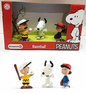 Snoopy Schleich-S Peanuts Playset 3 Figure Baseball 22043