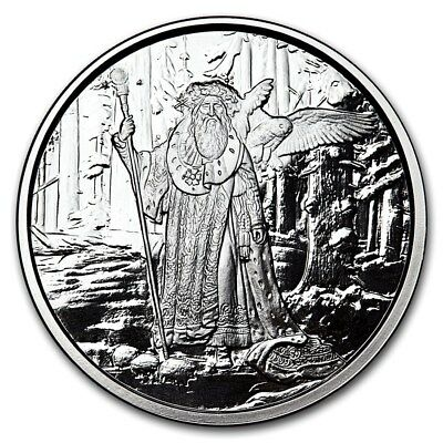 Celtic Lore Series - Merlin 1 oz .999 Silver Proof Round USA Made American Coin