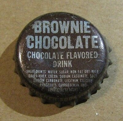 BROWNIE CHOCOLATE  DRINK CORK SODA CAP  MANCHESTER Mo.