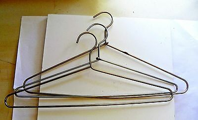 Vintage Heavy Thick Metal Clothes Hangers - Set Of 3