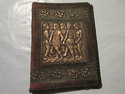 Vintage Hand Tooled Leather Book or Bible Cover