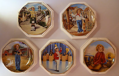 The Danbury Mint Shirley Temple Collector Plates (8 inch) Set of 5