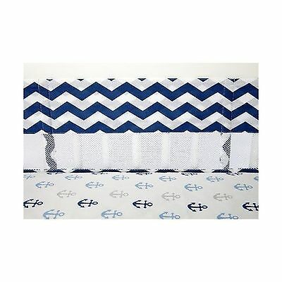 Little Love by NoJo Separates Collection Chevron Print Crib Liner Navy/White